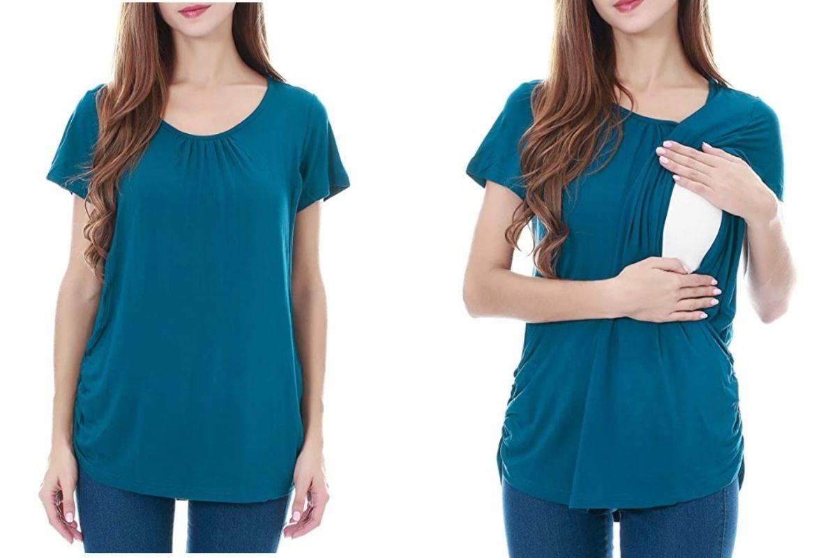 t-shirt abbigliamento allattamento