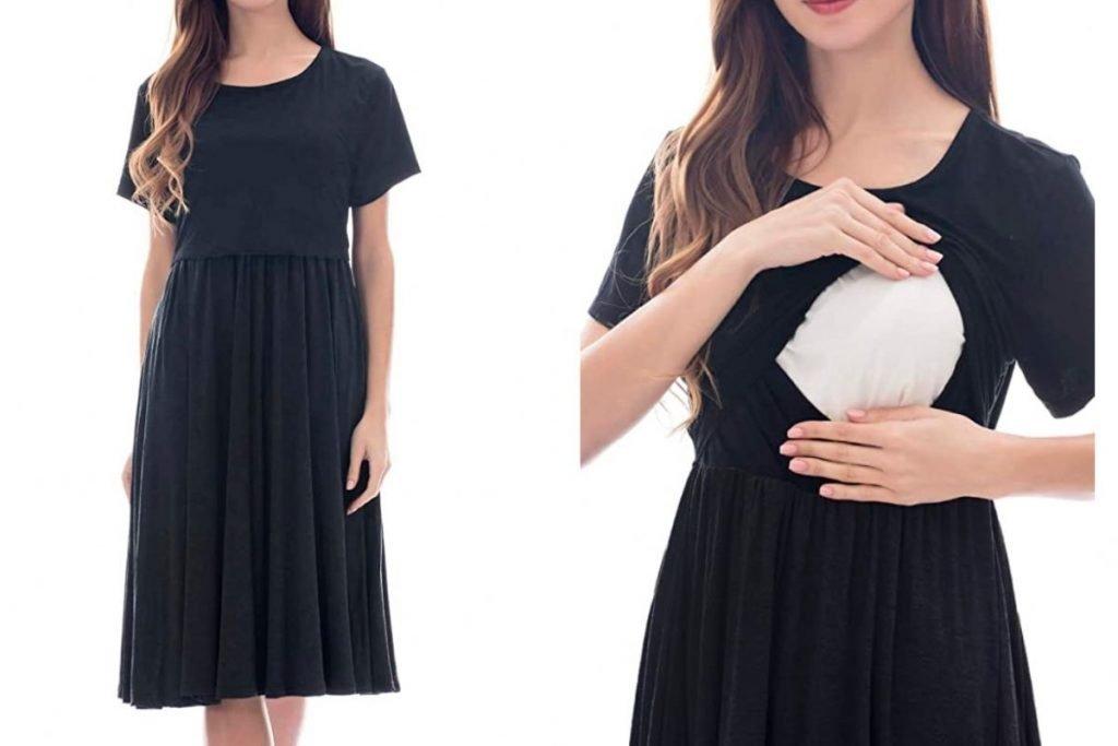 vestito abbigliamento allattamento